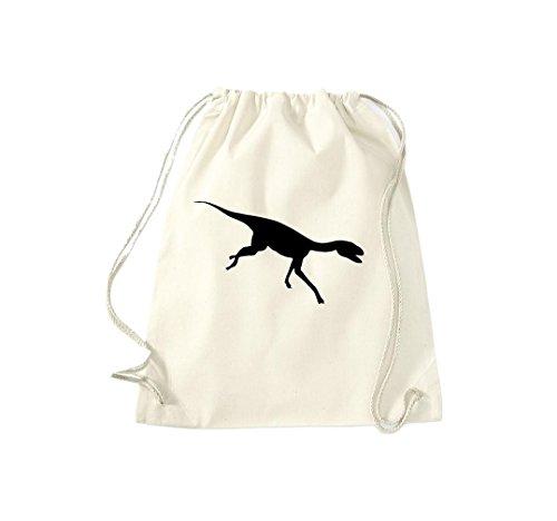 Krokodil - Bolso de tela de algodón para mujer Beige - naturaleza