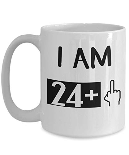 Turning 25 Years Old Coffee Mug - 25th Birthday Gift for Women and Men - Party Cup Idea Birthday Tea Cup Funny Gift For Noel, Thank you, Christmas, Xmas, Grandmother Girlfriend, boyfriend