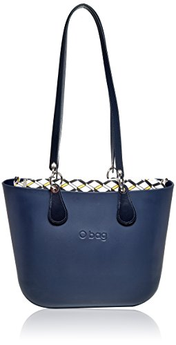 Borsa A B001 Multicolore Navy Blu Donna 017 Mano Obag 017 On7q1tt