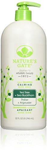 Nature's Gate Tea Tree + Sea Buckthorn Calming Shampoo, 32 Fluid Ounce