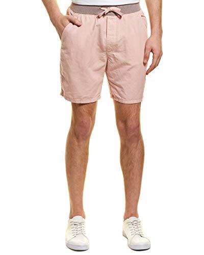 (ORIGINAL PAPERBACKS Mens Tuscany Linen-Blend Short, M, Pink)