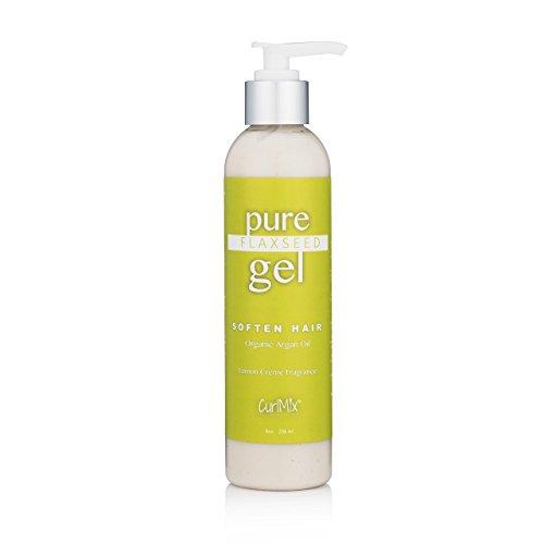 Pure Homemade Flaxseed Gel (Lemon Crème Fragrance & Organic Argan Oil)