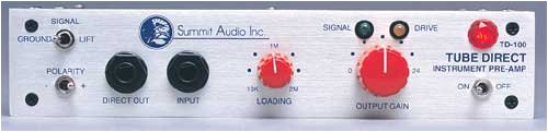 Summit Audio TD-100 Instrument Preamp and Tube Direct Box