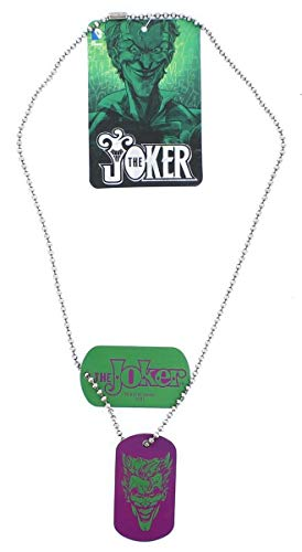 DC Comics Joker Smirk Dog Tag Necklace -