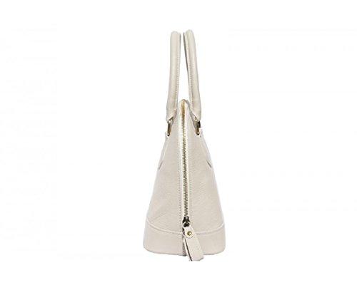 FIRENSE - Schultertasche, Handtasche aus Rindleder Rimini 31×24×13 cm, Beige