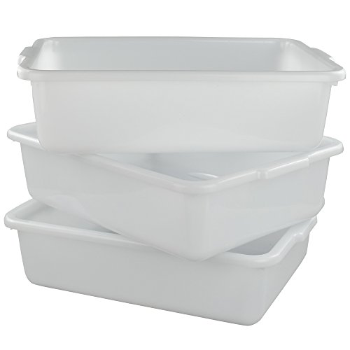 Morcte Commercial Bus Box, Plastic Bus Tub/Wash Basin, 15.55