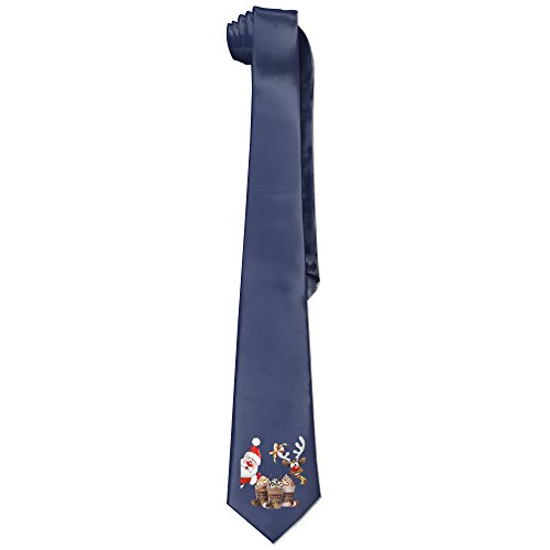xmas-mens-santa-claus-and-godiva-fashion-business-solid-necktie-neck-tie