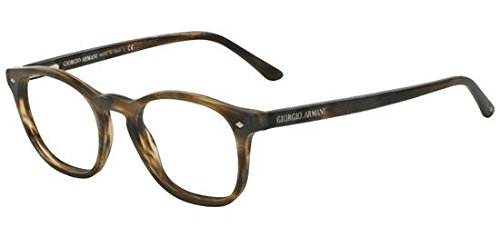 Giorgio Armani - FRAMES OF LIFE AR 7074, Geometric, acetate, men, STRIPED DARK BROWN(5405), 50/19/145