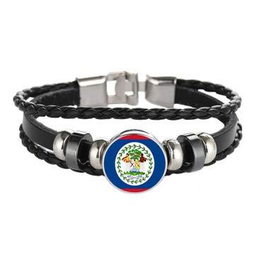 Commemorative Cufflinks - Sykdybz 2018 Fans Souvenirs Flag Alloy Antique Bracelet Fans Commemorative Gifts,Belize