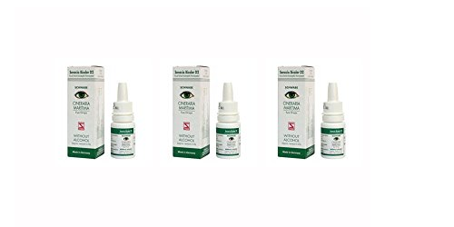 Cineraria Maritima Eye Drops Homoeopathic Medicine - 10ml (Pack of 3)
