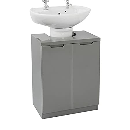 House And Homestyle Grey Gloss Undersink Bathroom Storage Unit
