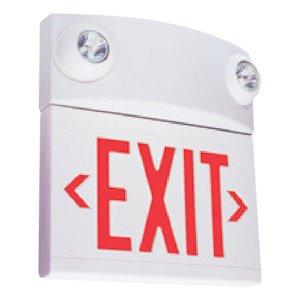 Hubbell Emergency Light - Hubbell 00450 - 10 watt LED White / Red Emergency Light / Exit Sign (LTURW)