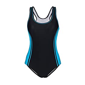 Women's One Piece Swimsuits Racing Training Sports Athletic Swimwear 31iu9LgTDDL