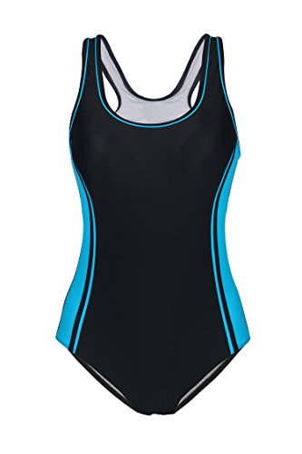Uhnice Women's One Piece Swimsuits Racing Training Sports Athletic Swimwear