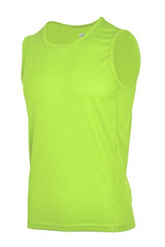 H Miles Athletic Mens Comfort Sleeveless T Shirt Yellow Xl