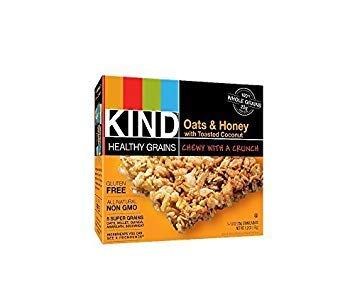 KIND Healthy Grains Bars Healthy Grains Bars - Oats & Honey with Toasted Coconut - 1.2 oz - 5 ct - 3 pk