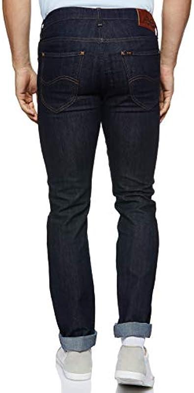 Lee Mens daren Niebieski Straight Leg dżinsy: Odzież