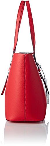 Shopper White Scarlet Cabas Medium Zone Rouge Ck Calvin Klein Ck 4RqAAI