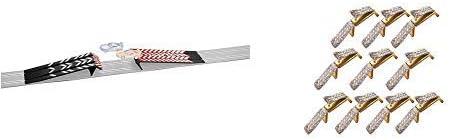Carrera 61641 - GO!!! Sprungschanze & 20061510 Double Sliding Contact 10 Doppelschleifer Spielspaß, Mehrfarbig Stück