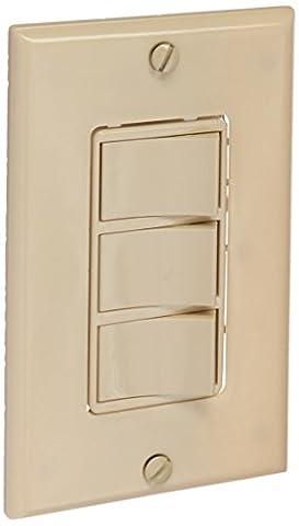 Broan 66V 3-Function Control, 20 amp.,120V, Ivory (3 Function Light Switch)