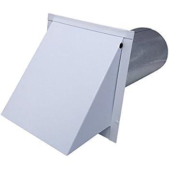 Amazon Com Dryer Wall Vent White Powder Coated Steel