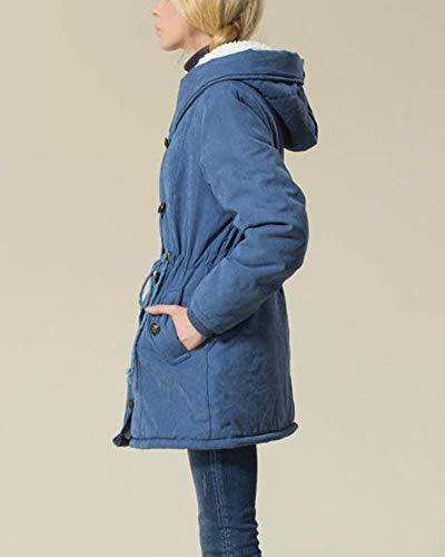 Manteau Taille Capuche Veste D'hiver Plein Détendu À Femmes En Longues Doux Saison Chaud Casual Manteaux Plus Jour Betrothales Air Manches Les La Blau Vestes Pour qEaWv7w