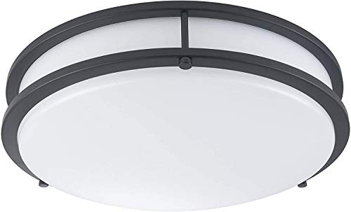 LB72125 LED Flush Mount Ceiling Light, 16 inch, 23W (200W Equivalent) Dimmable 1610lm, 4000K Cool White, Oil Rubbed…