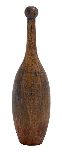 "Deco 79 47429 Wood Bowling Pin 5""W, 18""H"
