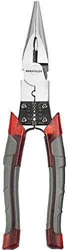 SSY-YU プライヤー多機能ワイヤープライヤーストリッパークリンパーカッターニードルノーズニッパージュエリーツール対角線8インチプロフェッショナルツールレンチ ペンチ 切断工具