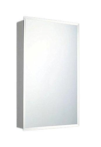 ketcham Cabinets Deluxe Series Beveled Edge Mirror Single Door Medicine Cabinet - Recessed Mount