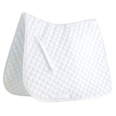 Quilted Dressage pad-White/Black Piping [Misc.] [Misc.]