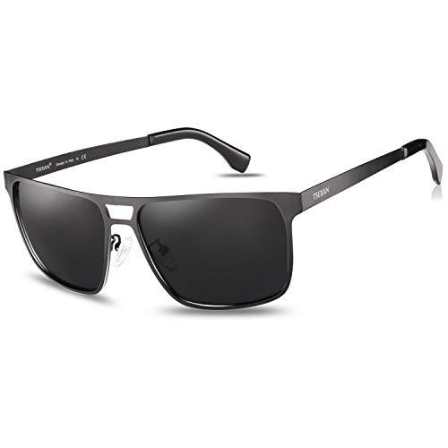 TSEBAN Metall Herren Sonnenbrille Polarisierte Sportbrille Fahrerbrille 100% UV-Schutz