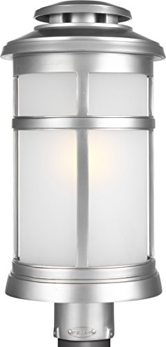 Feiss OL14307PBS Newport StoneStrong StoneStrong Coastal Outdoor Post Lighting, Satin Nickel, 1-Light (9