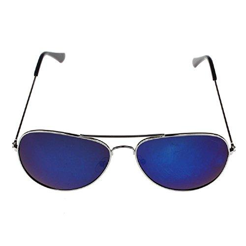 Lunettes De Soleil Covermason Armature en métal classique unisexe lunettes de soleil rétro femmes hommes (ruban + gris) pZfXf