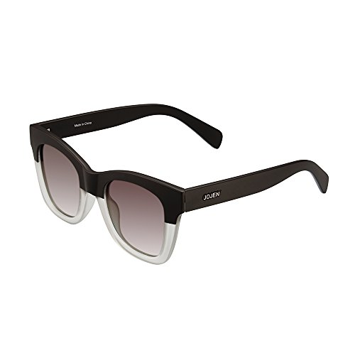 JOJEN Polarized Sunglasses for Women fashion CatEye Ultra Light TR90 Frame JE009(Black Frame Grey ()