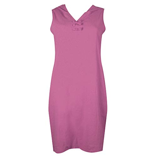 Zaidern Women Dress Sexy Women's Casual Sleeveless Solid Color V Neck Hooded Dress Beach Summer Dresses Purple by Zaidern_Dresses (Image #1)
