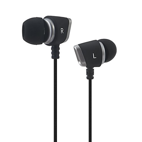 Gorsun C2 Triple Driver Wired In-Ear Headphones (Earphones/Earbuds), Microphone with 3.5mm Stereo plug and remote, Noise Isolating Headphones for work, talk, play. (Black)