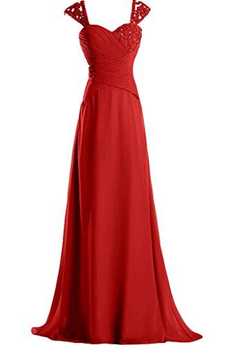 Missdressy -  Vestito  - linea ad a - Donna rosso 40