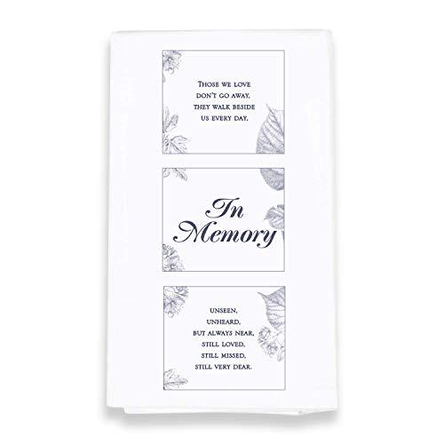 In Memory Bereavement 18 x 22 All Cotton Flour Bag Style Kitchen Tea Towel