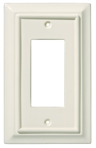 Liberty Hardware 126445 Wood Architectural Single Decorator Wall Plate, Light Almond