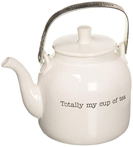 Mud Cups - Mud Pie 4301007 My My Cup of Tea Personal Teapot, One Size, White