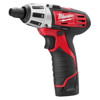 MILWAUKEE ELECTRIC TOOL 2401-22 M12 Cordless 12V Lithium-Ion Screwdriver with Two Batteries, Charger and Case, 1'' x 1'' x 1'' by Milwaukee Electric Tool