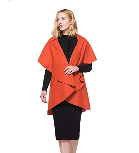 Primavera Cardigan Sólido Sleeveless Camisolas Irregular Naranja Mujer Elegante Outdoor Hipster Moda Color Chalecos Ropa Joven Abrigo wHxTaqx