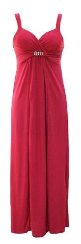 [Peach Couture Sweetheart Exotic Bandeau Sleeveless Maxi / Beach / Evening Dress (Large, Fuchsia)] (Petit Point Heart)