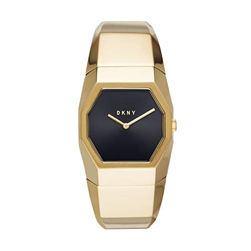 - DKNY Women Beekman Quartz Stainless Steel Gold with Black Dial Watch NY2730