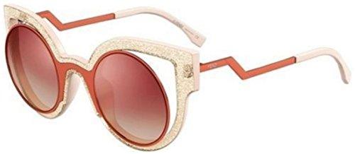 Fendi PARADEYES FF 0137/S NUG/4C Orange glitter beige pink Sunglasses