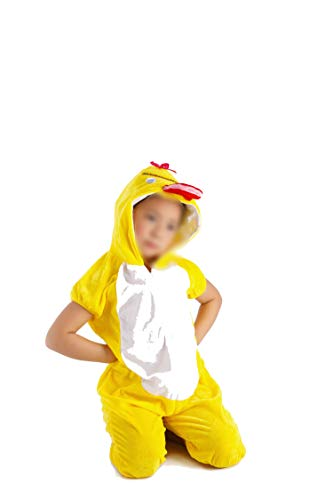 Children's Animal Clothing Halloween Cosplay Jumpsuitstage Costumes,Yellow Duck,130cm
