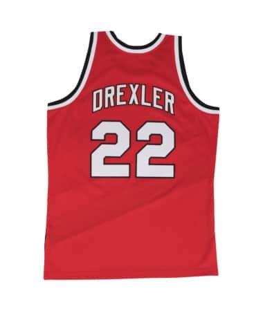 Mitchell & Ness Clyde Drexler 1983-84 Portland Trail Blazers Red Swingman Jersey (Swingman Portland Trailblazers Jersey)