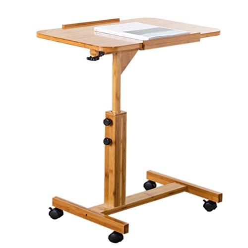 ZXL Bambu sängbord, lat det kan flytta enkelt skrivbord som används för läsning lär dig laptopbord (färg: 60 cm)