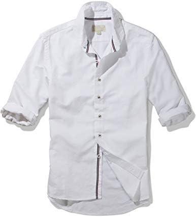 メンズ オックスフォード 5分袖 ワイシャツ 大きいサイズ ビジネスカジュアル 無地 #G1501 (ホワイト, 4XL)